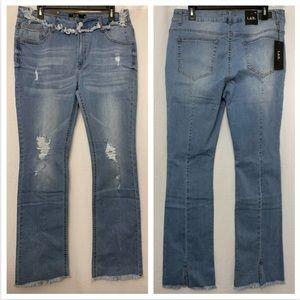 L&B jeans PLUS jeans distressed bootcut